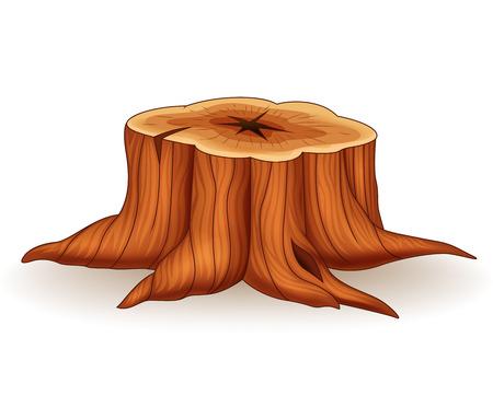 Vector illustration of tree stump Stock Illustratie