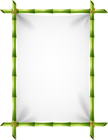 blank sign: Vector illustration of blank sign with bamboo frame