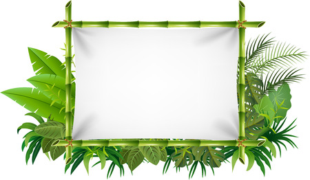 blank sign: Vector illustration of blank sign with nature concept