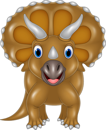 triceratops: Vector illustration of Cartoon Triceratops isolated on white background