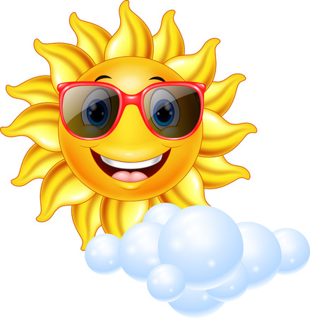 smiling sun: Vector illustration of Cartoon smiling sun mascot Illustration