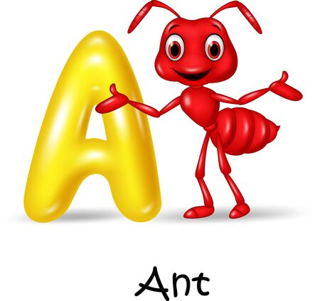 spelling book: Vector illustration A of letter for Ant