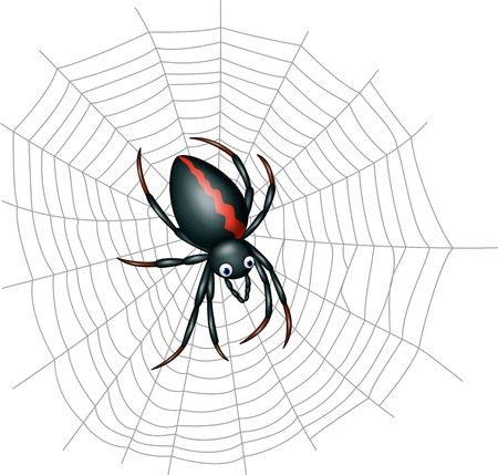 Vector illustration of Cute spider cartoon