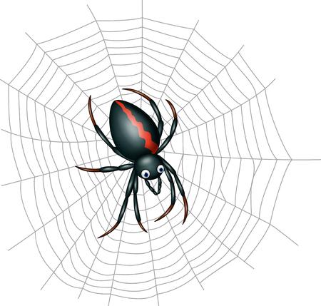 Vector illustratie van Cute spider cartoon