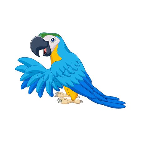 Vector illustration of Cartoon blue parrot
