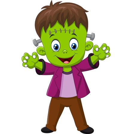 cartoon frankenstein: Vector illustration of Cartoon Frankenstein Character