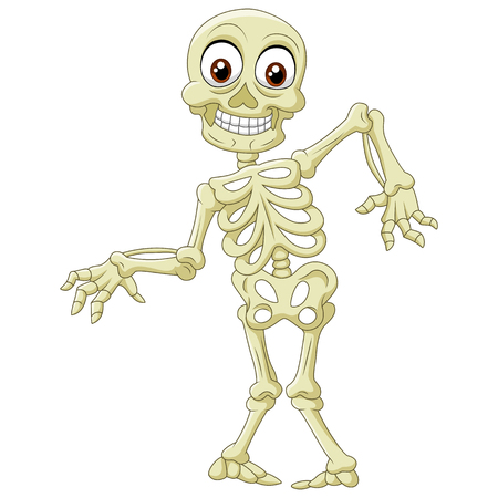 Vector illustration of  Halloween skeleton