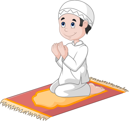 pray: illustration of Little boy praying