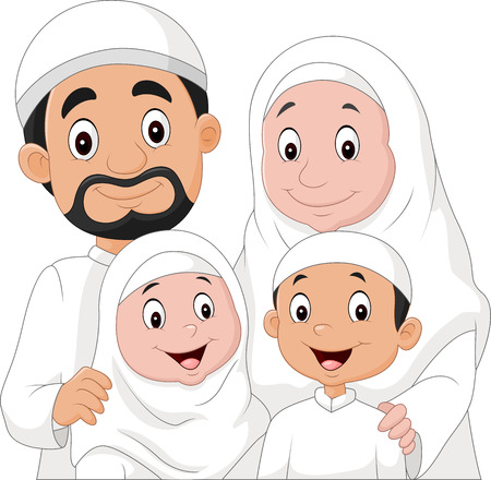 Illustration vectorielle de bande dessinée musulmane
