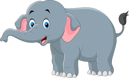 child laughing: illustration of Cute elephant cartoon