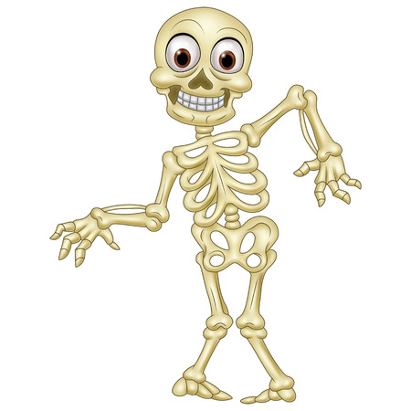 illustration of Halloween skeleton  イラスト・ベクター素材