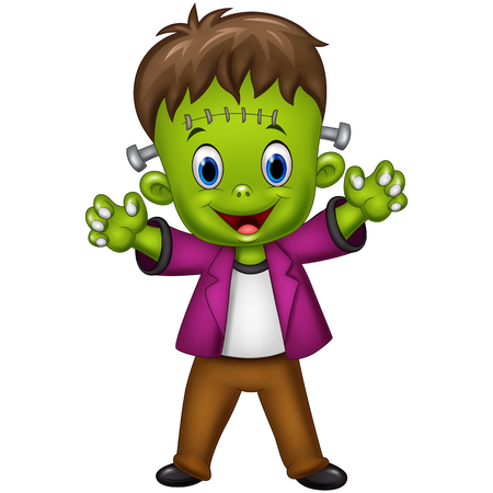 illustration of Cartoon Frankenstein Character
