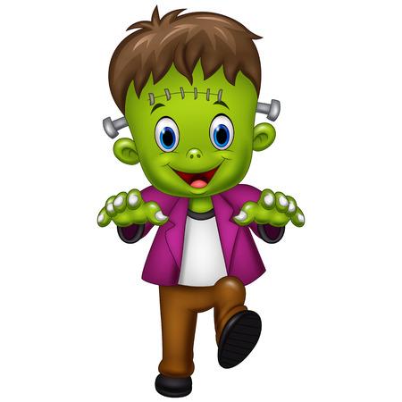 illustration of Halloween Frankenstein Mascot Illustration