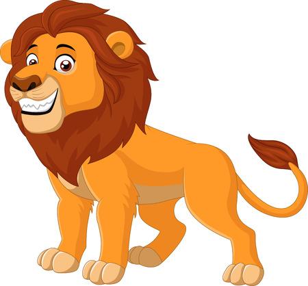 illustration de l'animal de lion heureux
