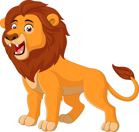illustration of Cartoon lion roaring