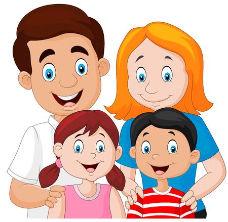 illustration de la famille heureuse Vecteurs