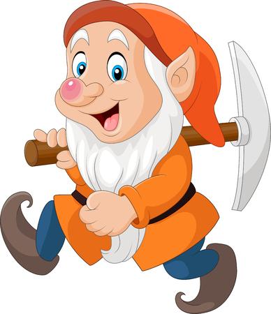 illustration of Cartoon dwarf miner