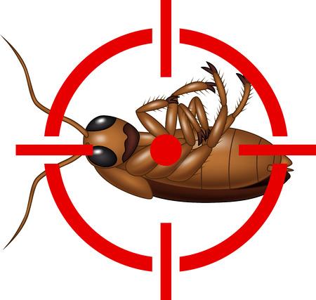 Illustration der Schabe auf Ziel Icon
