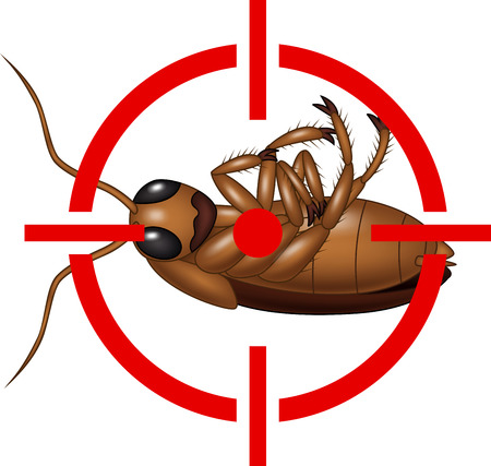illustration of Cockroach on Target Icon