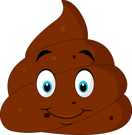 feces: illustration of Smiling face shit icon or emoji