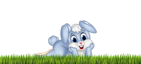spring summer: illustration of Cute little bunny