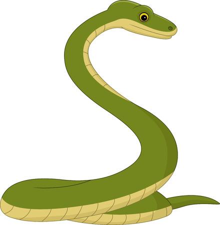 ilustración de dibujos animados de la serpiente