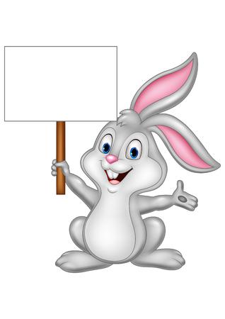 Illustration Vecteur de Cartoon abbit de lapin avec signe vierge