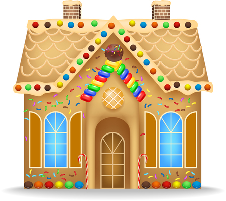 Cartoon gingerbread house Banque d'images - 74095254