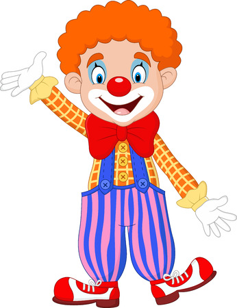 stage makeup: Vector illustration Cartoon funny clown Illustration