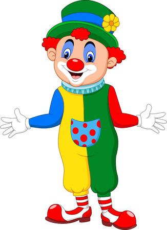 Ilustración vectorial Dibujos animados clown divertido posando