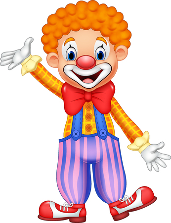 stage makeup: Vector illustration of Cartoon funny clown