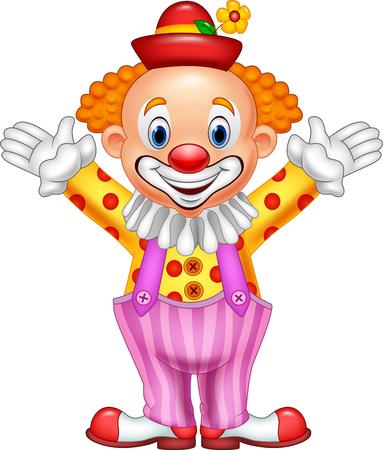 Vector illustration of Cartoon funny clown