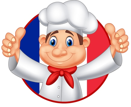 food: Vector illustration of Cartoon chef giving thumb up Illustration