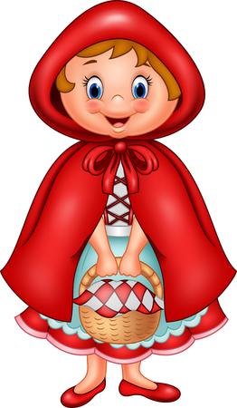 Vector illustration of Red riding hood Illustration