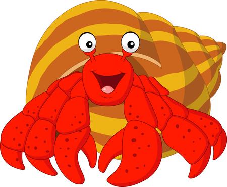 subaquatic: Vector illustration of Cartoon hermit crab