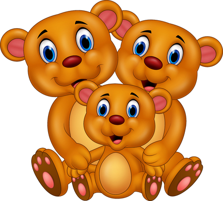 baby: Vector illustration of Cartoon brown bear family Illustration