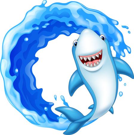 sharp: Vector illustration of Cartoon shark icon