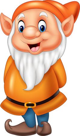 Cartoon glücklich Zwerg isoliert auf weißem Hintergrund Standard-Bild - 76176952