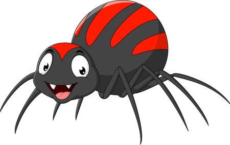 Vetor illustration of Cartoon funny spider isolated on white background