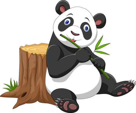 Illustration of Cute panda cartoon Illustration