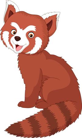 Vector illustration of Cartoon red panda Illustration