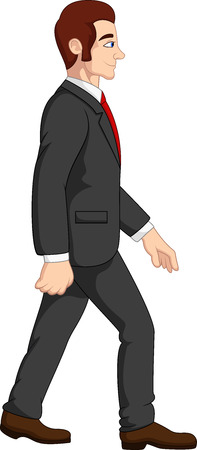 Vector illustration of Cartoon businessman
