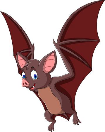 Vector illustration of Cartoon bat isolated on white background