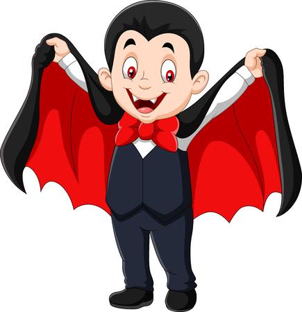Vector illustration of Cartoon funny vampire isolated on white background Illustration