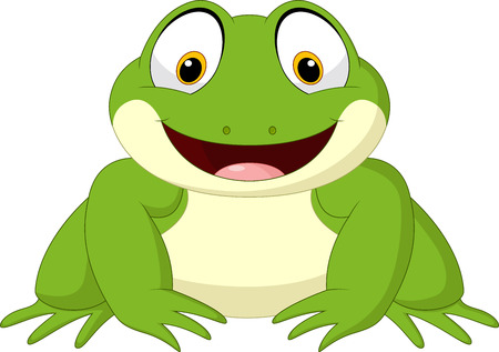 Illustration of Cartoon frog. Illustration