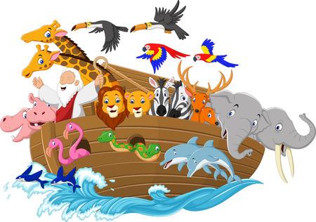 Vector illustration of Cartoon Noah's ark