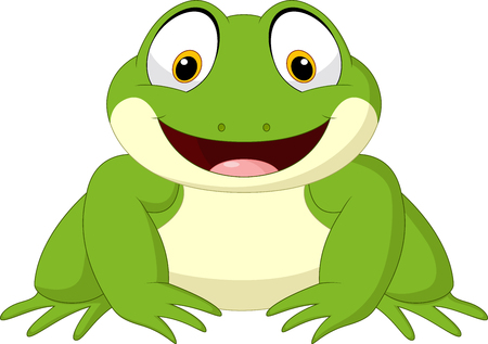 Vector illustration of Cartoon frog isolated