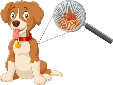 Illustration of flea Infested Dog Иллюстрация