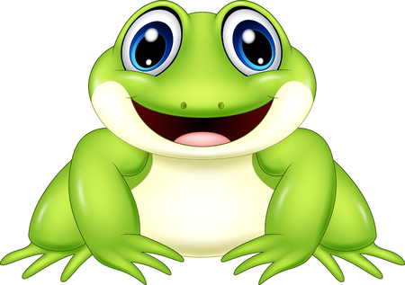 Vector illustration of Cartoon frog isolated on white background Stock Vector - 87808045