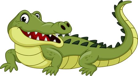 Cartoon crocodile isolated on white background 版權商用圖片 - 96375902
